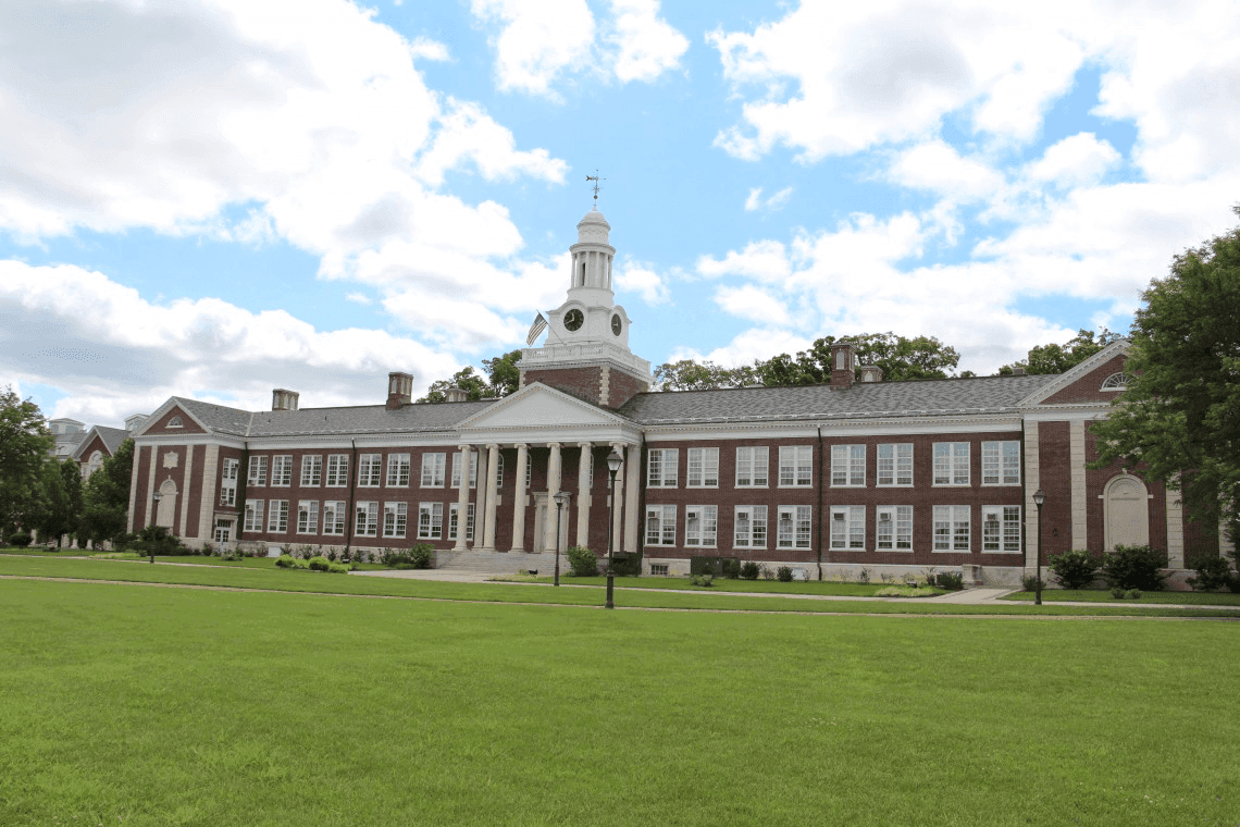 The main building at TCNJ