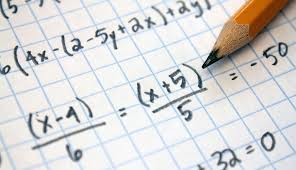 Close up of math equation