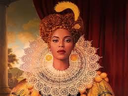 An art piece of Beyoncé.