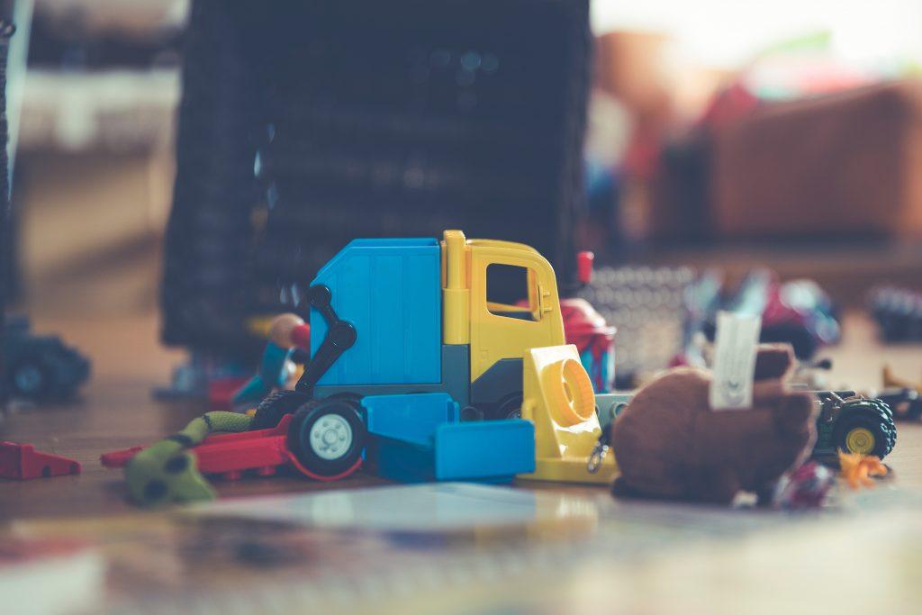 children's' toys on the floor.