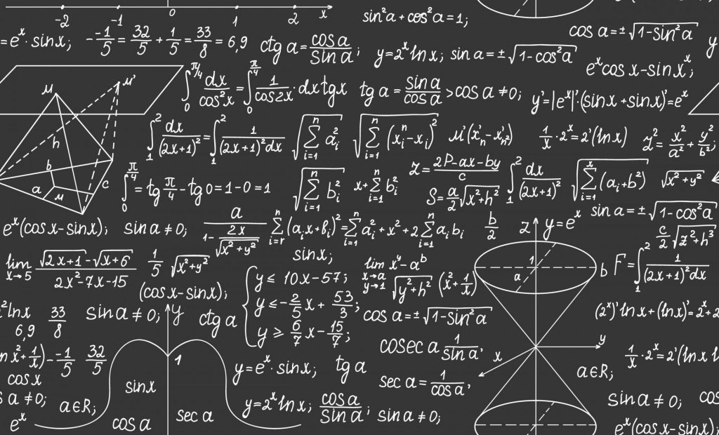 A graphic of formulas in physics.
