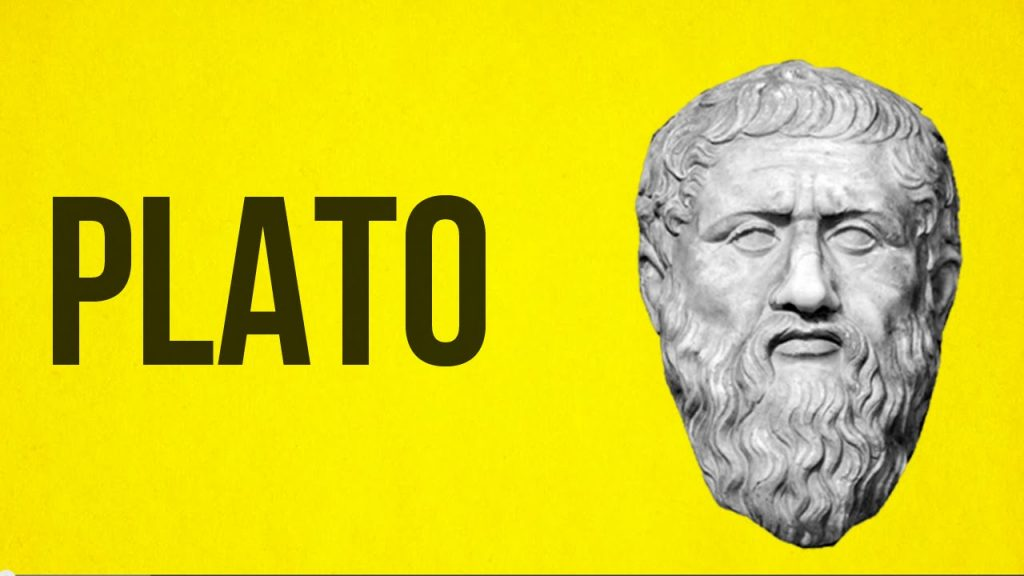 A statue-head of philosophical thinker, Plato.