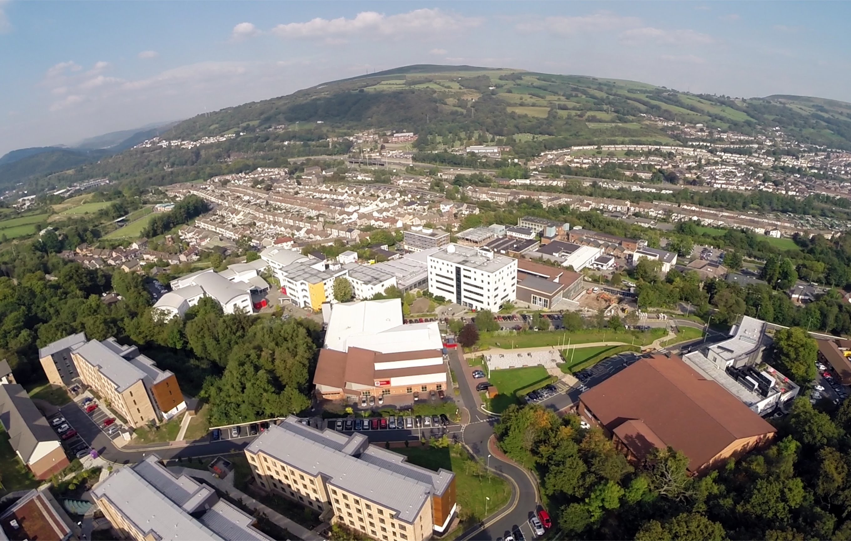 The aerial view of USW