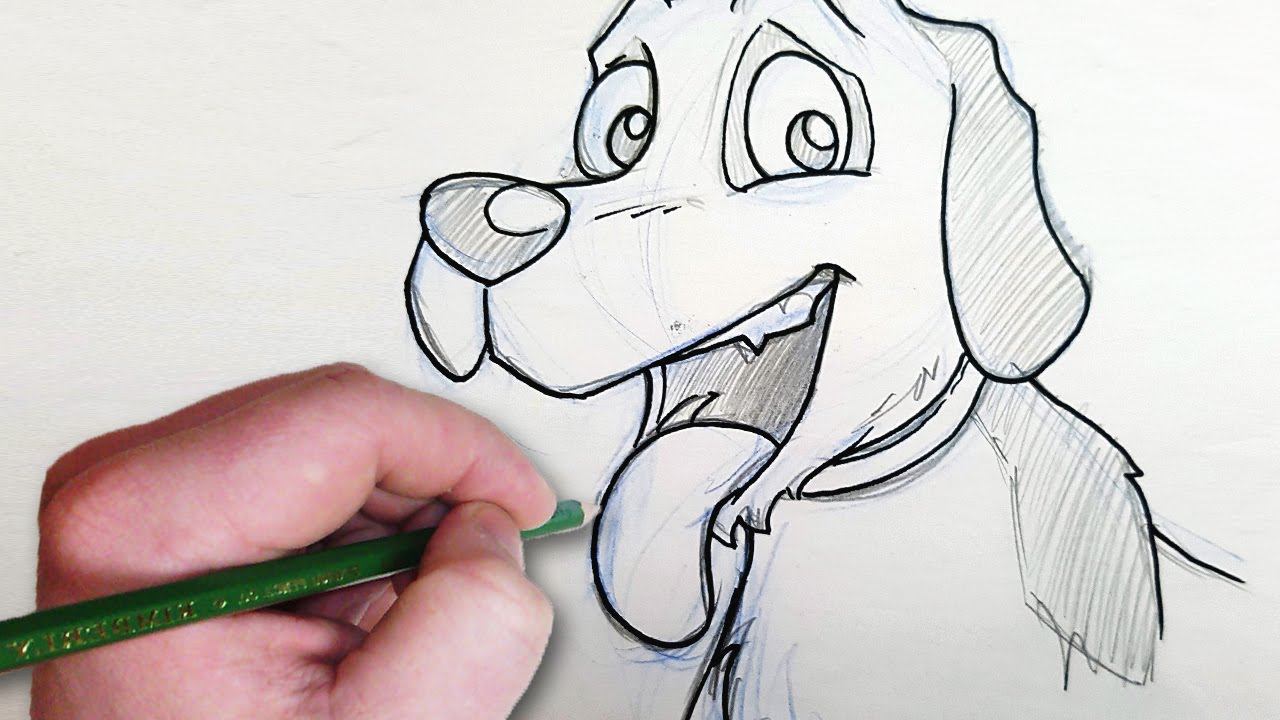 a person drawing a dog