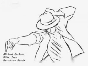 A drawing of Michael Jackson.