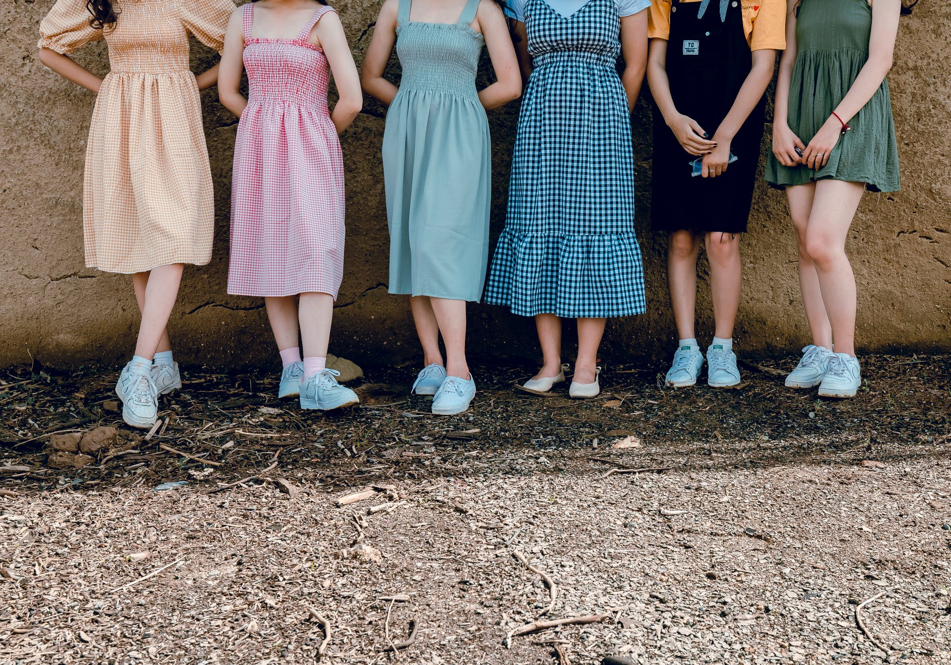 a group of girls posing