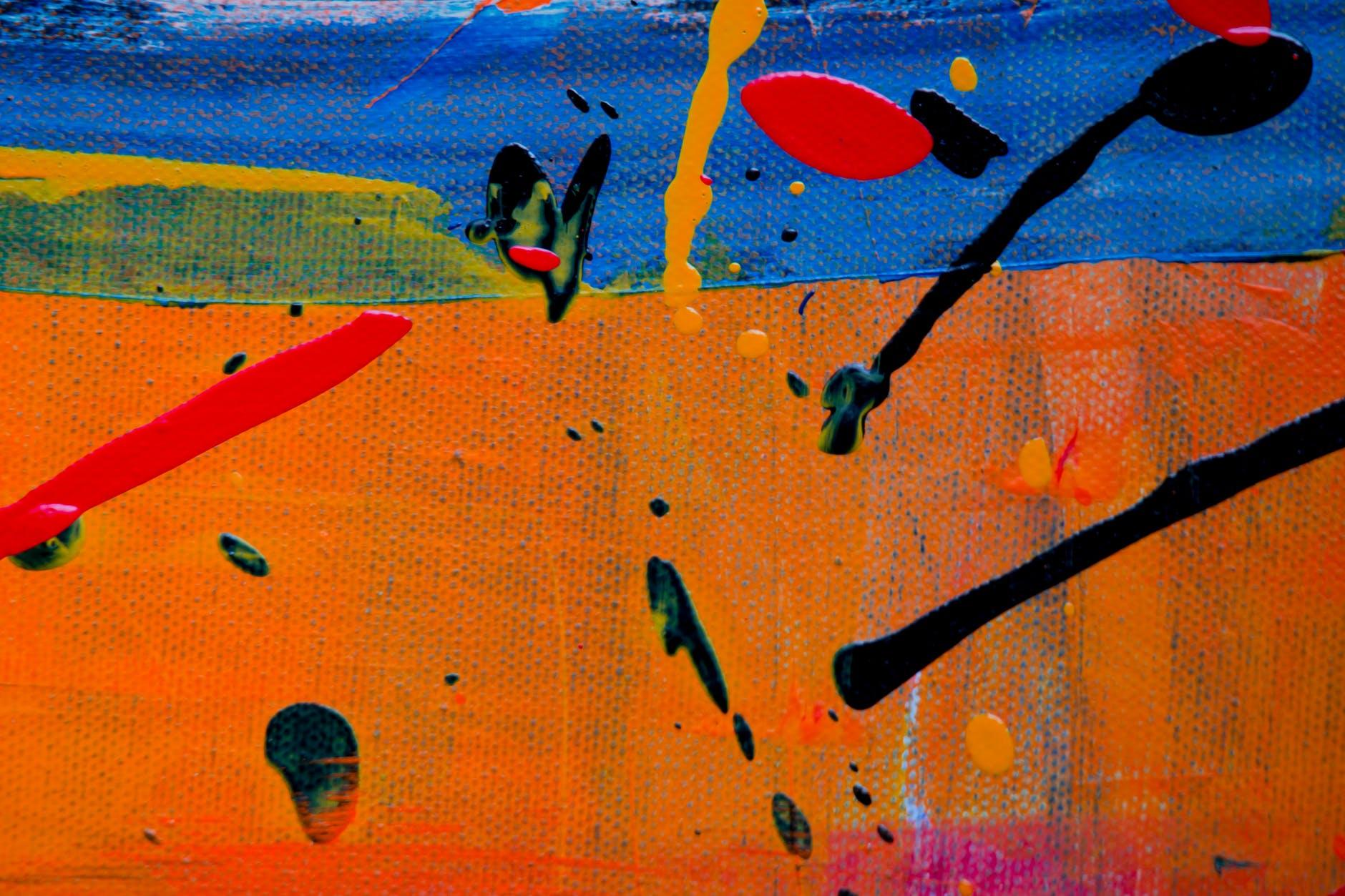 An abstract art piece made using paint
