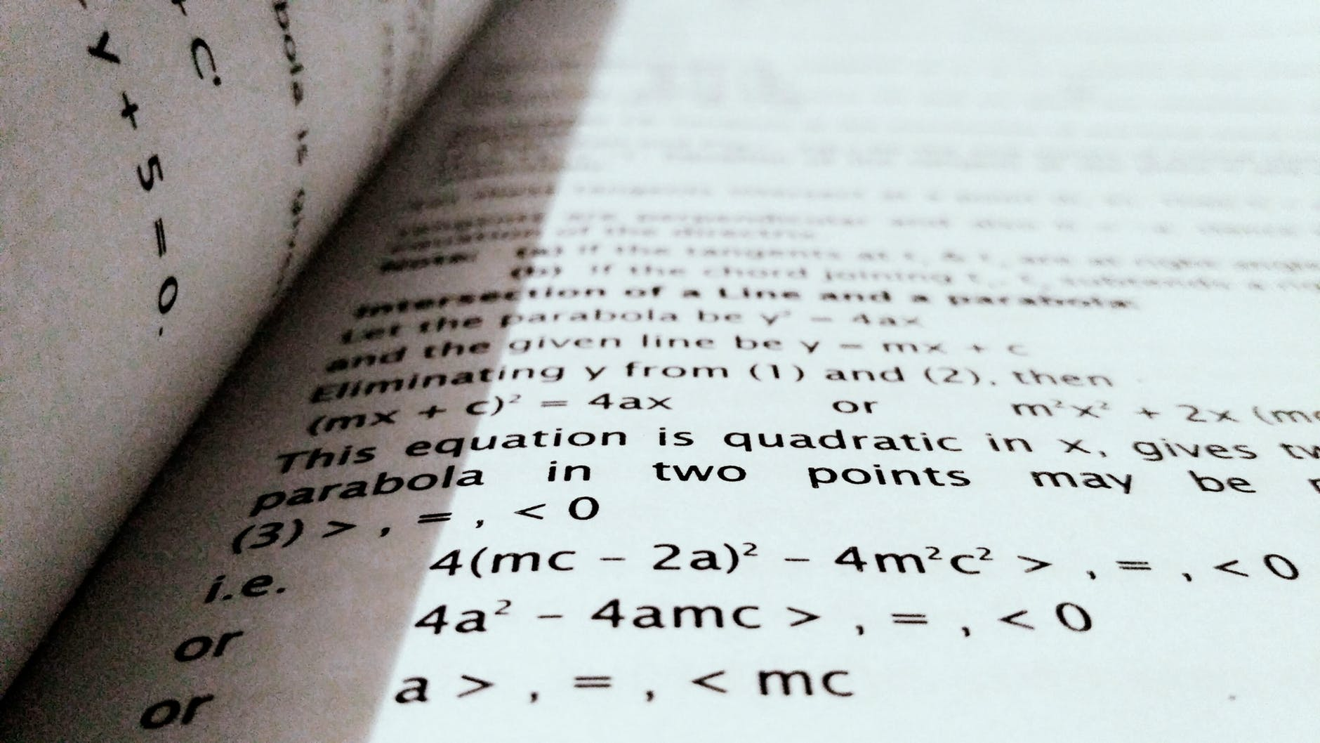 The pages of a math book.