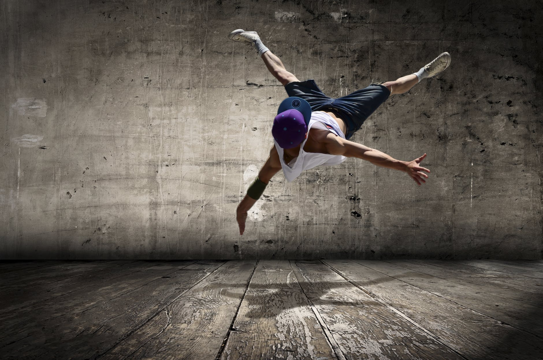 a dancer showing off his moves.