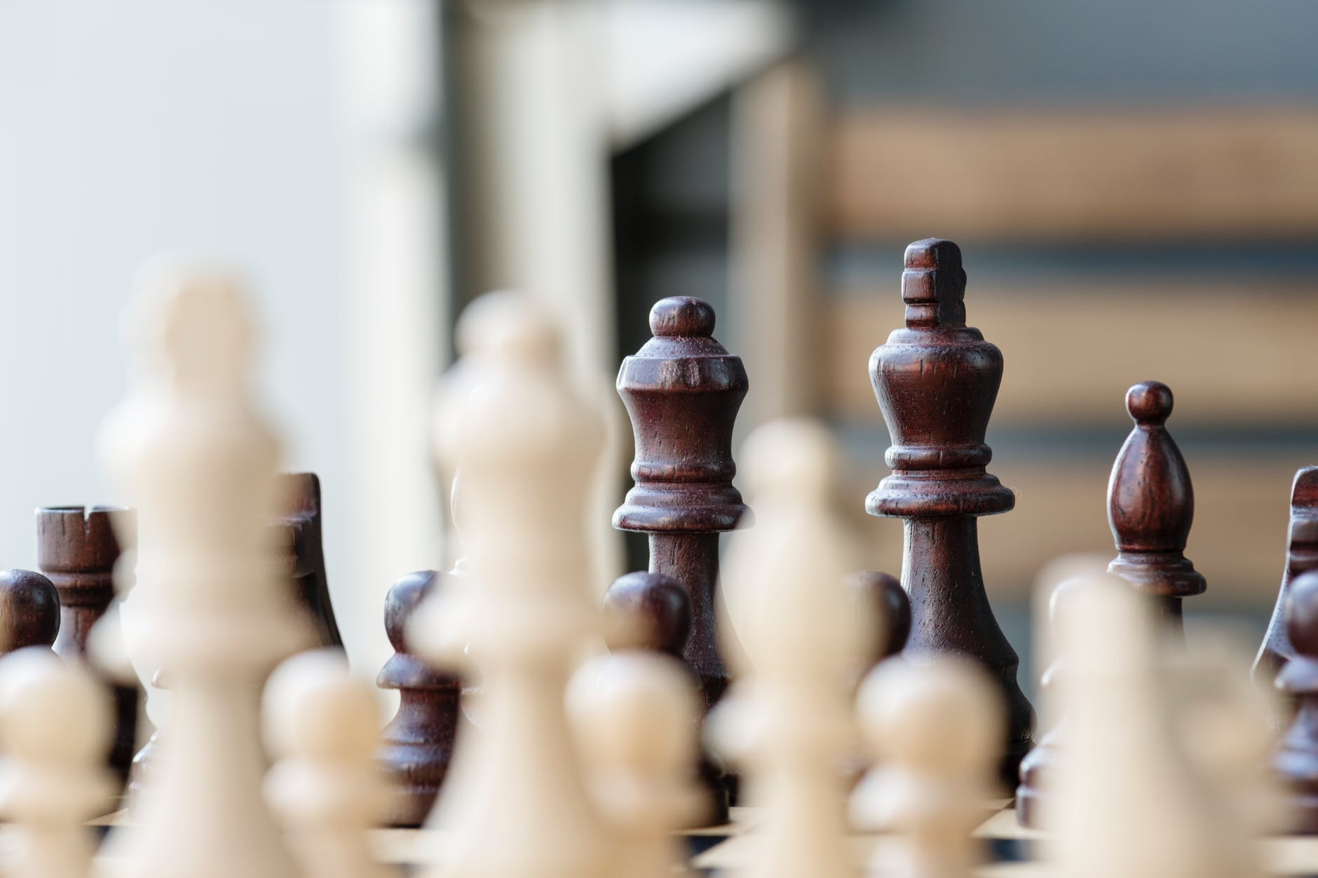 Selective focus photo of chess set