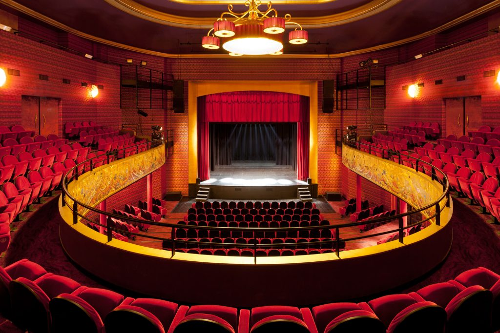 An inside look into a theatre.