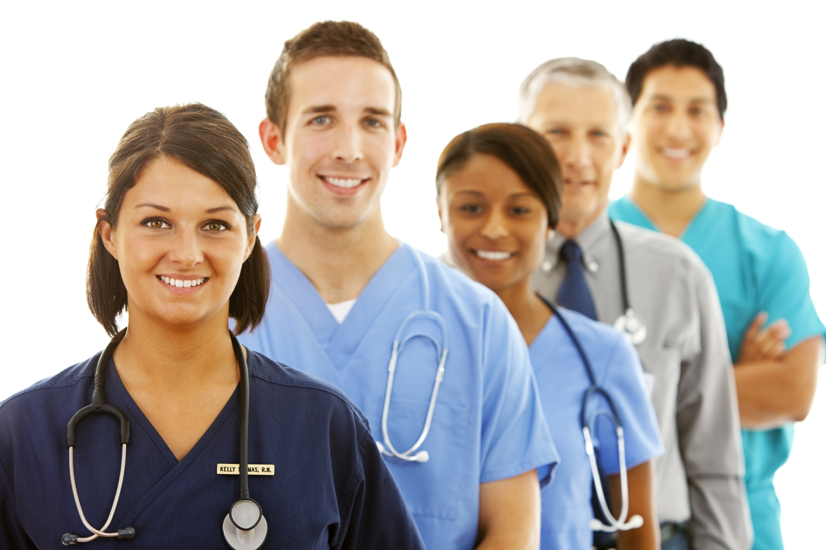 This image is of young doctors and nurses, some of the professions that students in this course may eventually get.