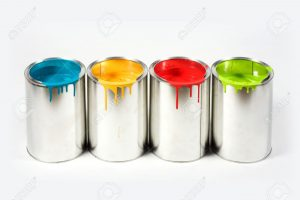 An image of paint buckets.