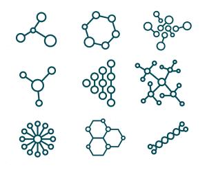 An image of various molecular forms