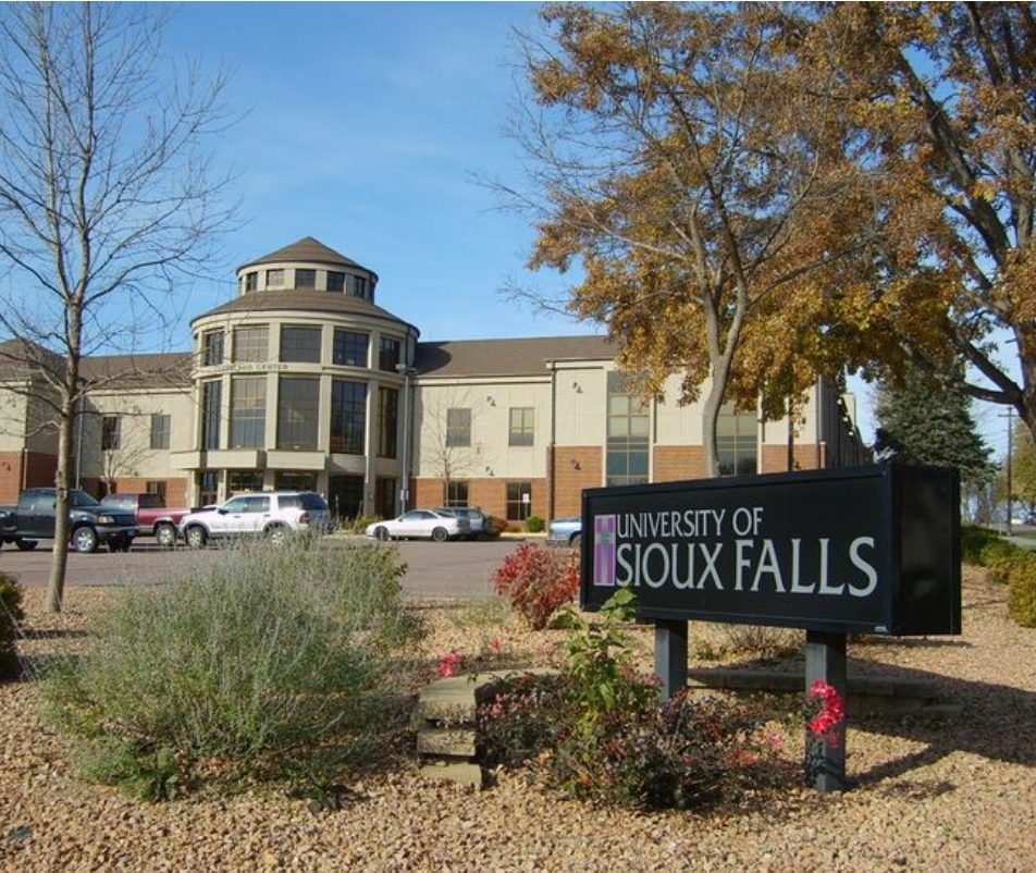 University of Sioux Falls school sign