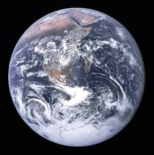 This image shows the globe from space.