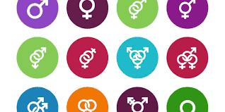This image shows the many different symbols used to describe gender identity in society today.