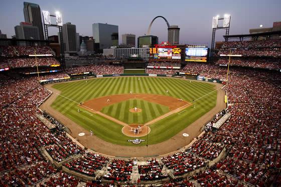 baseball game in process