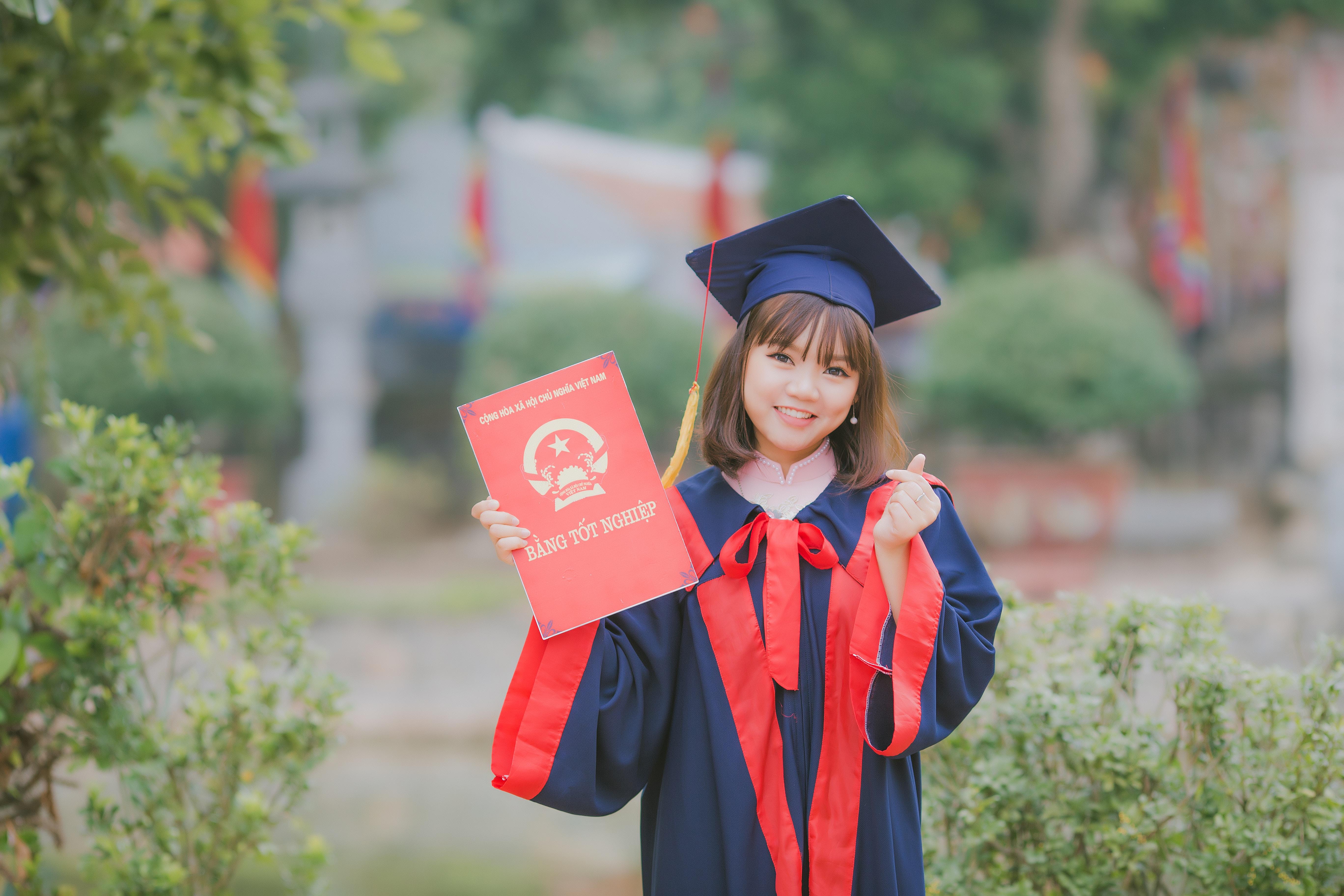 Little kid graduating