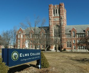 An image of a building on Elms college campus