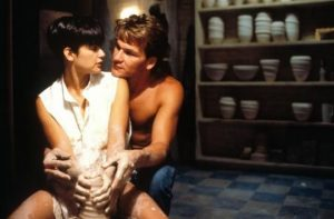 """An image of the classic ceramic scene in the movie """"Ghost"""""""