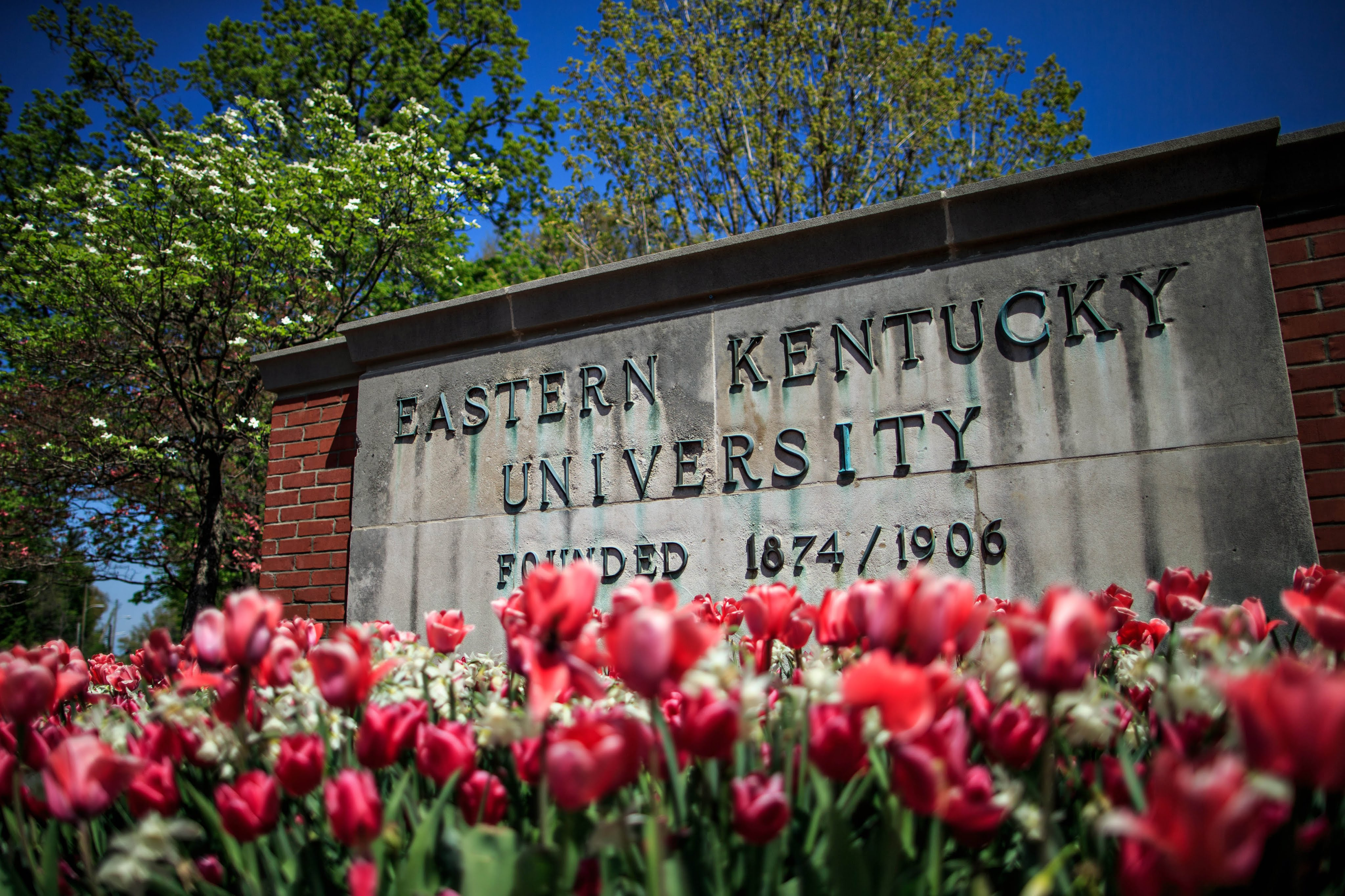 The main entrance sign of EKU