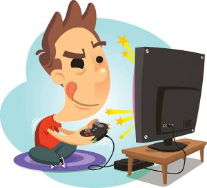 Video games are more and more popular now, why not learn all the cool stuff behind it. The picture shows a boy playing video games.