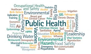 An image of all the major terms related to Public Health.