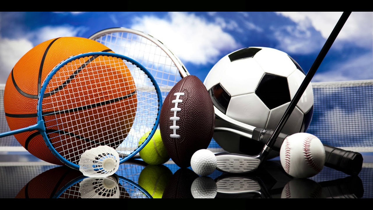 sports balls and items