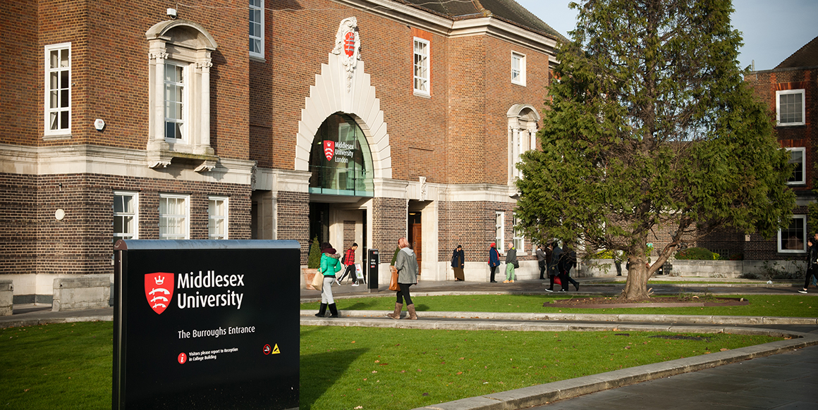 The exterior of Middlesex University