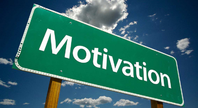 A sign that says motivation.