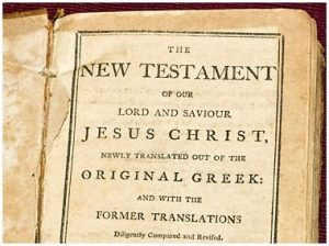 An image of a foreword to the New Testament