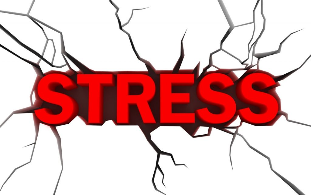 An illustration of the word stress.