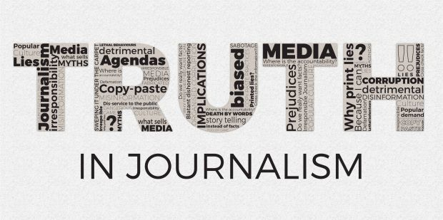 An image of the truth in journalism.