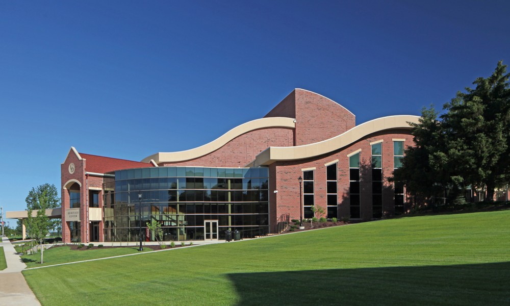 The exterior of the main building at University of Dubuque