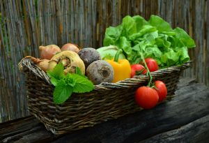 A collection of vegetables in a basket