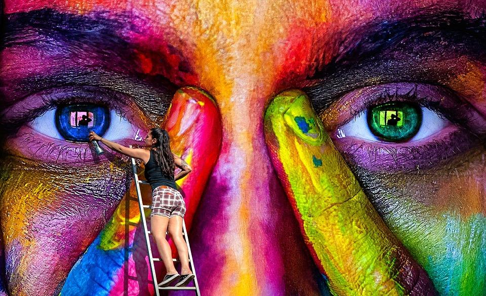 painter painting mural