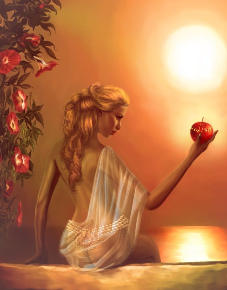 Aphrodite, the goddess of love and beauty