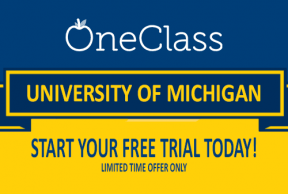OneClass Free Trial at University of Michigan