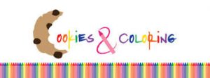 Colorful logo for NYU's Cookies and Coloring club
