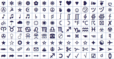 Text and chat symbols