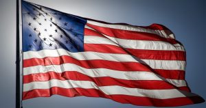 A picture of the American Flag which holds great history.