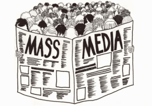 Showing how mass amounts of people read the same media.
