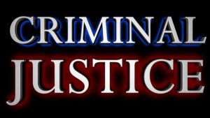An image of the words criminal justice.
