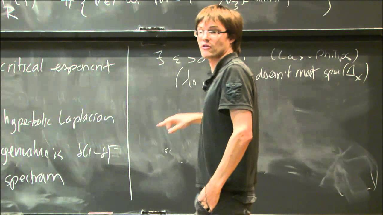 This image shows Professor Winter teaching his students.