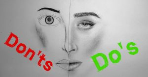 The do's and don'ts of drawing.