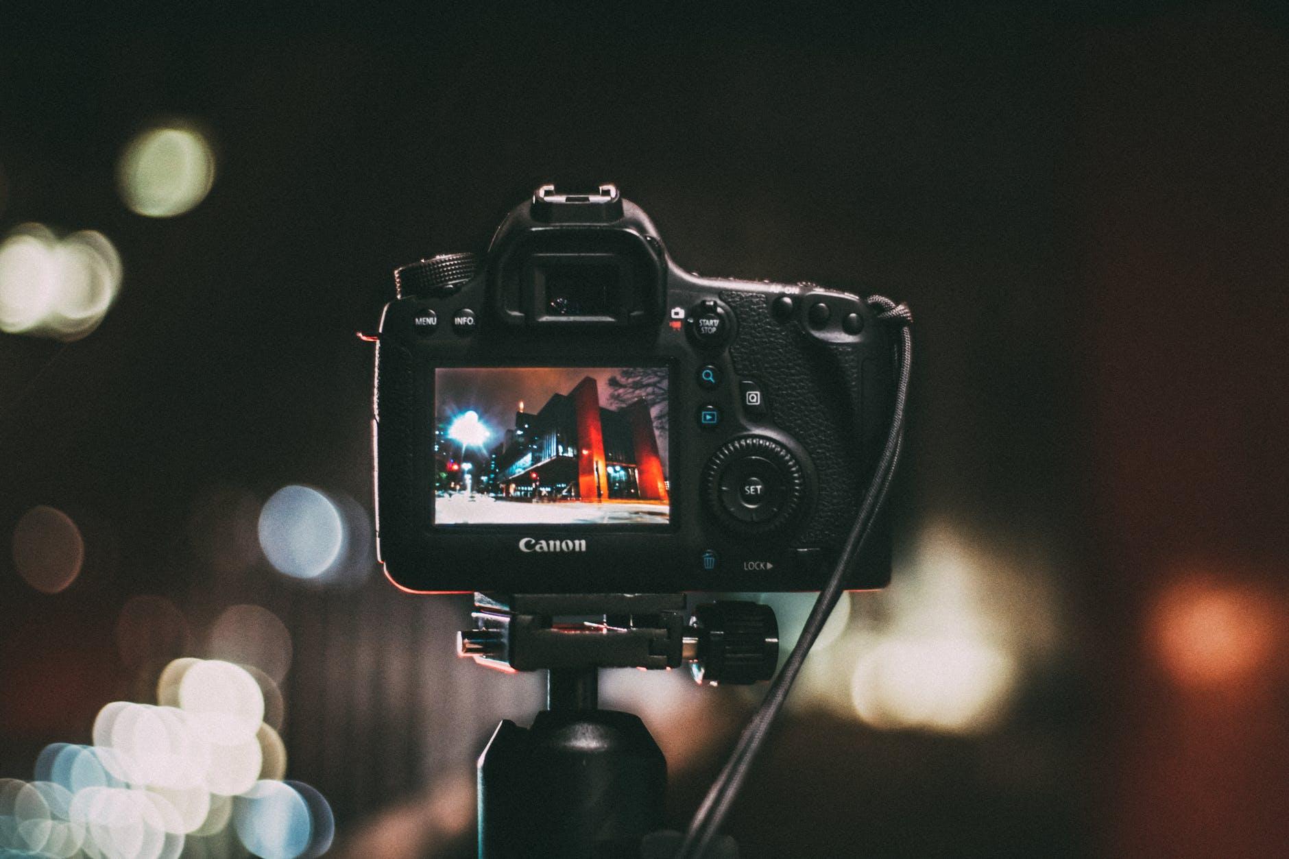 a Canon camera