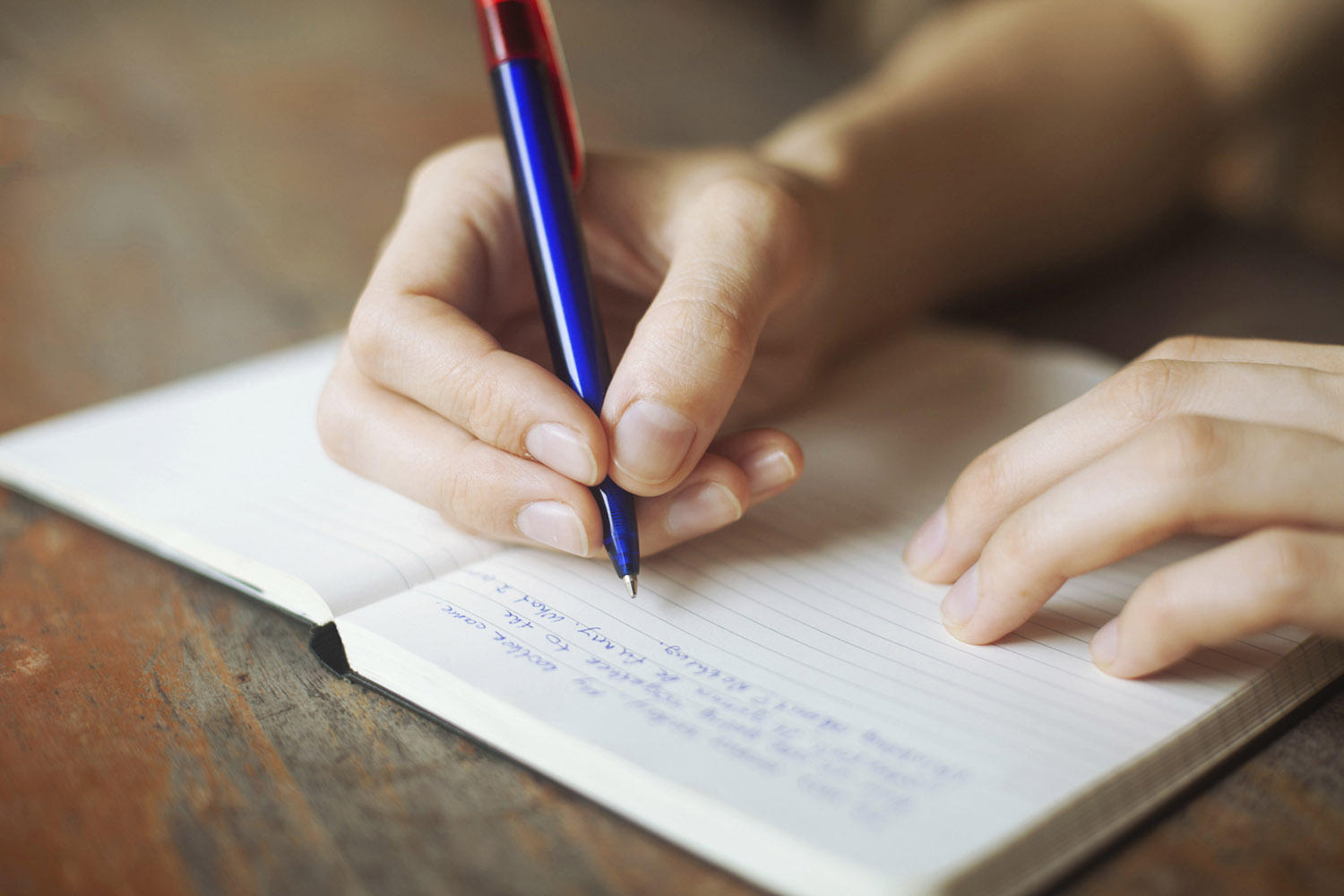 a student writing