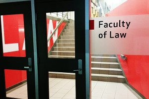 Faculty of Law where the law library is located