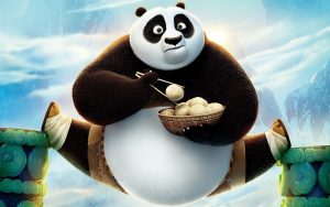 An illustration from Kung-Fu Panda.